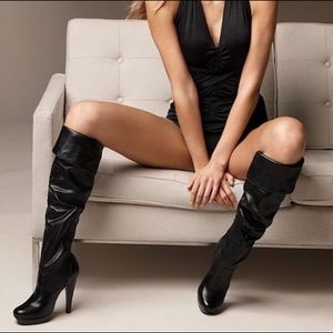 Jessica Simpson Slouchy Knee High Platform Boots